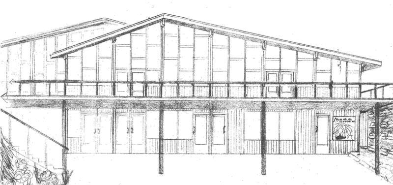 Elevation plan for the Mohawk Mountain lodge expansion