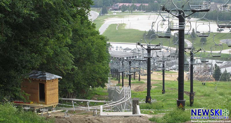 Construction of the Killington Mountain Coaster (July 4, 2015)