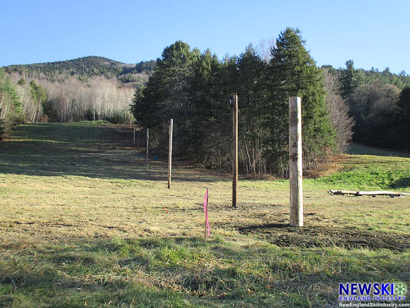 Rope tow poles at Ascutney, November 8